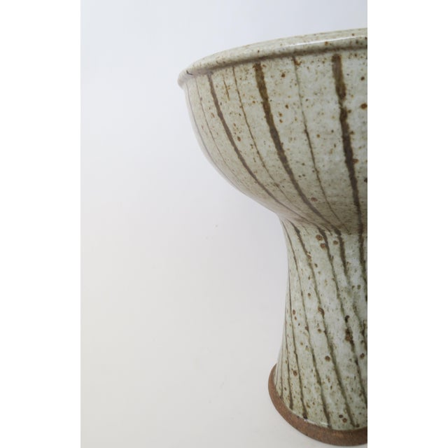 Vintage Studio Pottery Footed Compote For Sale In Los Angeles - Image 6 of 6