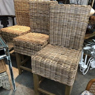 Restoration Hardware Wicker Stools, Set of 4 Preview