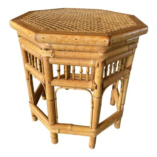 Brighton Pavilion Rattan Side Table For Sale