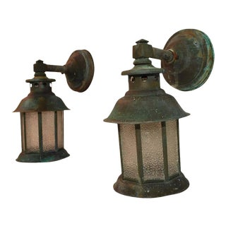 1920s Copper Outdoor Sconces - a Pair For Sale