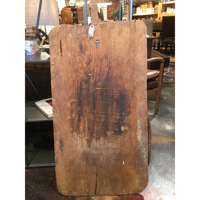 Pine Antique Rustic Bread Board For Sale - Image 7 of 11