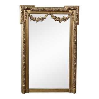 19th Century French Louis XVI Gilded Mirror For Sale