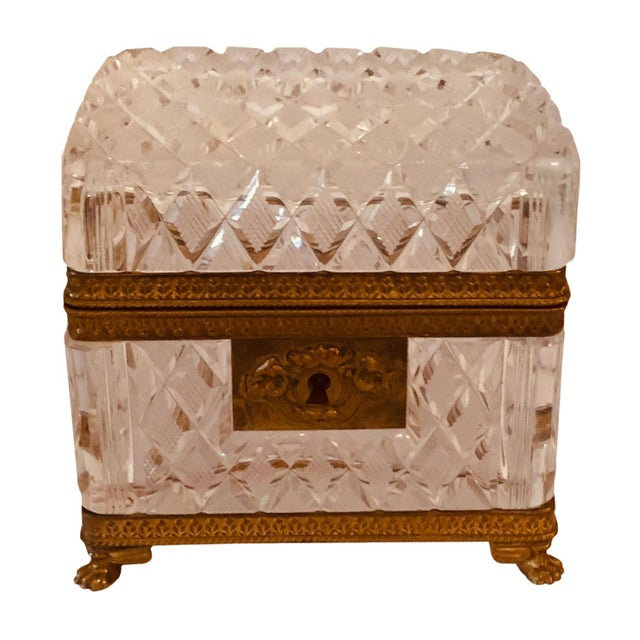 Antique Baccarat Crystal Box For Sale In Tampa - Image 6 of 8