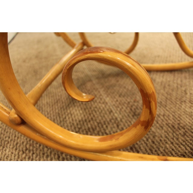 Thonet Salvatore Leone Bentwood Caned-Seat Rocking Chair #10 For Sale - Image 11 of 11