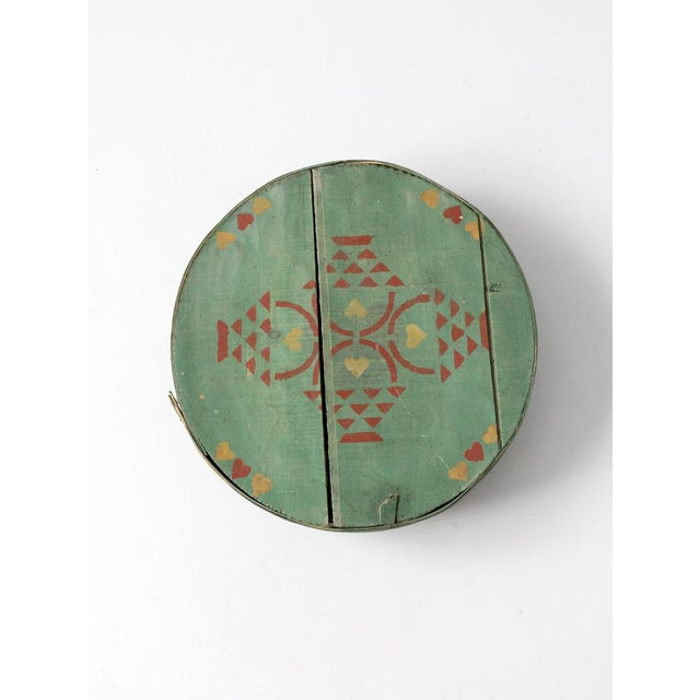 Antique Painted Band Box - Image 5 of 8