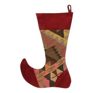 Large Kilim Christmas Stocking | Tannenbaum
