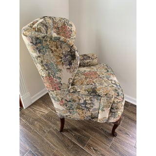 Custom Floral Wingback Chair Preview