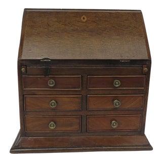 English Oak Miniature Slant Front Desk For Sale