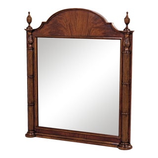Scarborough House Crotch Mahogany Frame Mirror For Sale