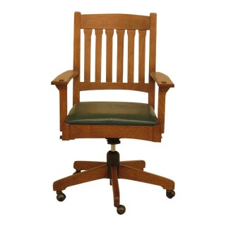 Stickley Mission Oak Arts & Crafts Office Desk Chair