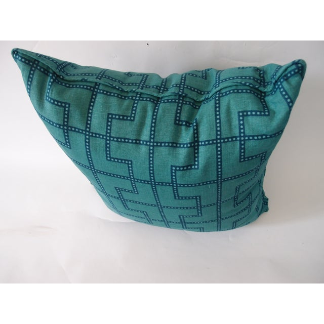 Schumacher Celerie Kemble Schumacher Blue and Green Pillow For Sale - Image 4 of 4