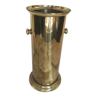 Brass Umbrella Stand Mid Century Modern For Sale