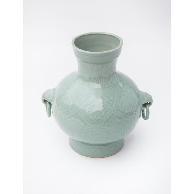 1960's Chinese Porcelain Vase in Celadon Glaze For Sale - Image 4 of 7