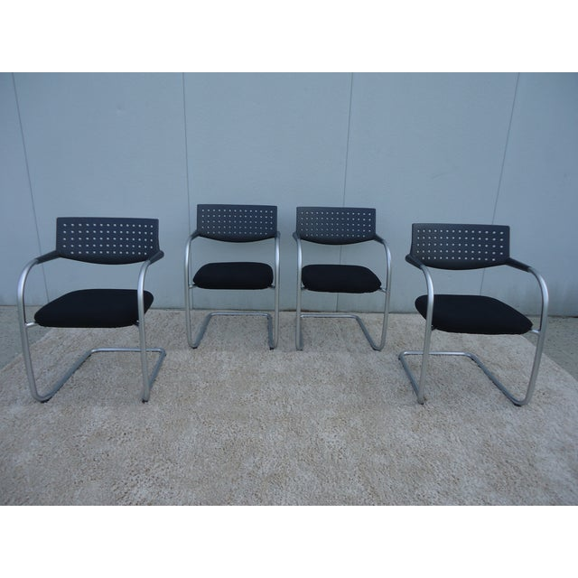 Fabric Modern Antonio Citterio for Vitra Visasoft Visavis Guest and Conference Chairs- Set of 6 For Sale - Image 7 of 13