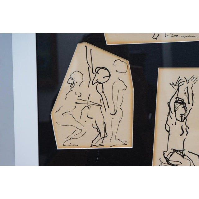 Ink Sketches of Dancers in Position - Set of 3 Framed Groups For Sale - Image 9 of 13
