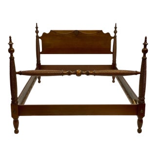 Mid 20th Century Mahogany Statton Trutype Full Four Poster Bedframe