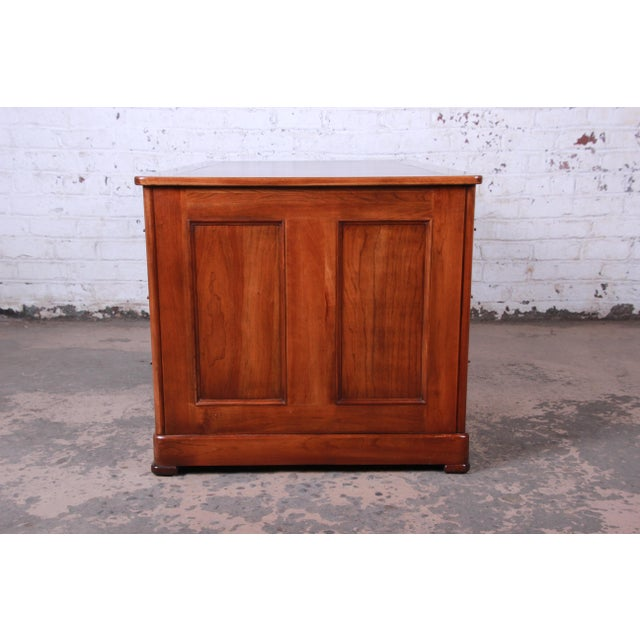 Harden Sleepy Hollow Collection Leather Top Partner Desk For Sale - Image 9 of 12