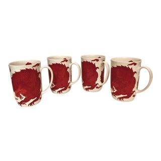 "China Mugs - Oriental ""SeaCreature"" - Set of 4 For Sale"