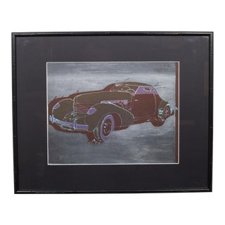 Set of Four Offset Lithograph Car Series C.1940 For Sale