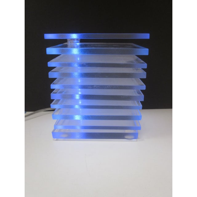 Lucite Plastic Stacking Mood Lamp Light - Image 6 of 9