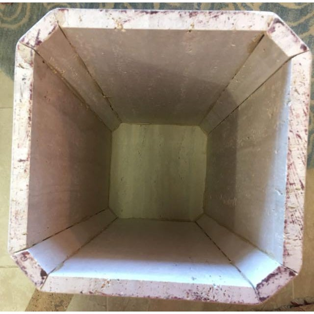 Gray Travertine Marble Pedestal For Sale - Image 9 of 10