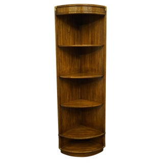 Drexel Furniture Accolade Collection Campaign Style Bookcase For Sale