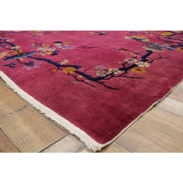 1920s Antique Chinese Art Deco Rug - 8′10″ × 11′7″ For Sale In Dallas - Image 6 of 10
