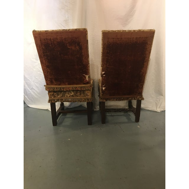 French Antique Louis XVIII Period Side Chairs With 19th Century Upholstery - a Pair For Sale - Image 3 of 8