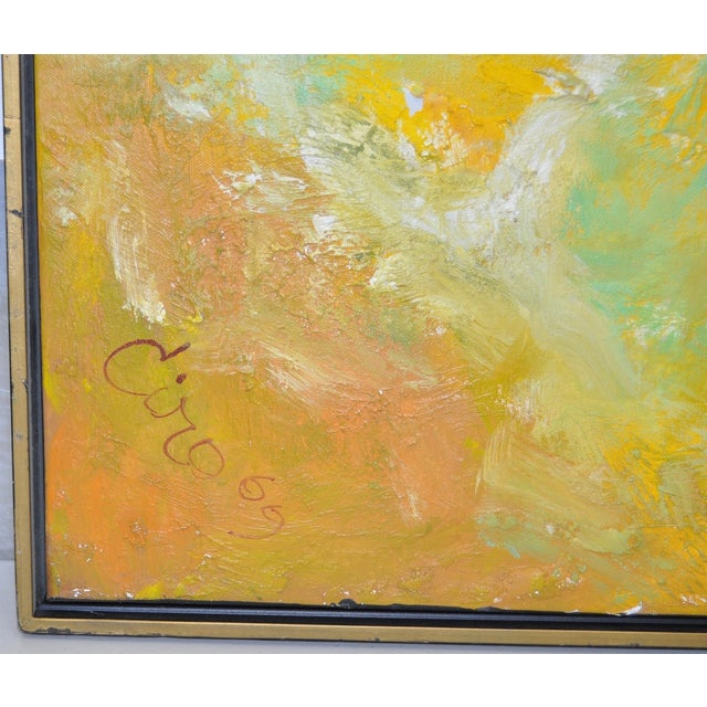 Vintage Abstract Oil Painting C.1969 - Image 5 of 6