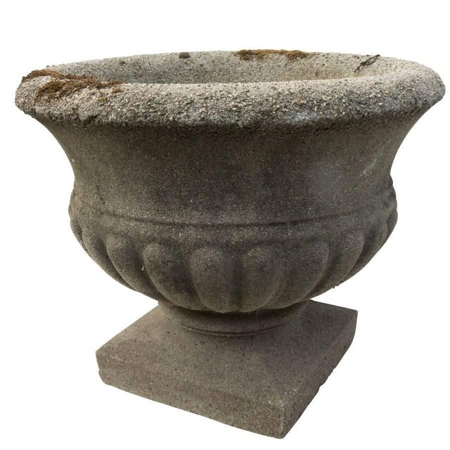 Vintage Cast Stone Urn, Circa 1950 For Sale - Image 4 of 6