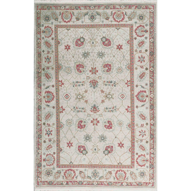 Traditional Hand Woven Wool Rug - 6'1 X 9'1 For Sale - Image 4 of 4