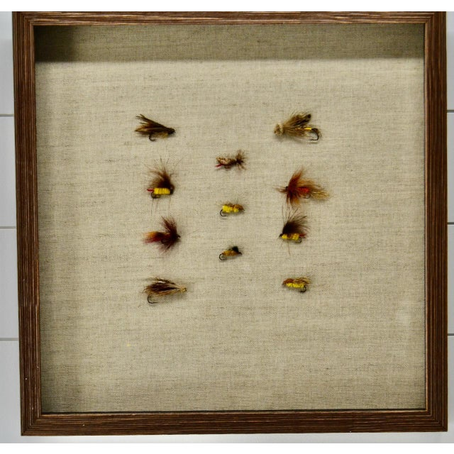 Framed Collection of Antique Fishing Lures For Sale - Image 4 of 4