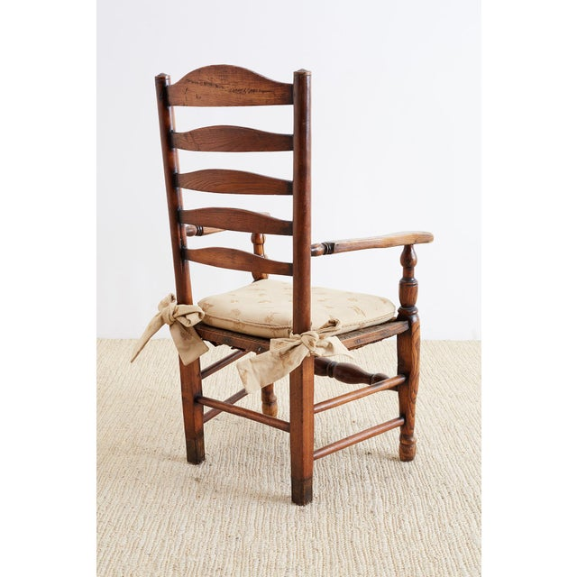 19th Century English Ladder Back Chair For Sale - Image 12 of 13
