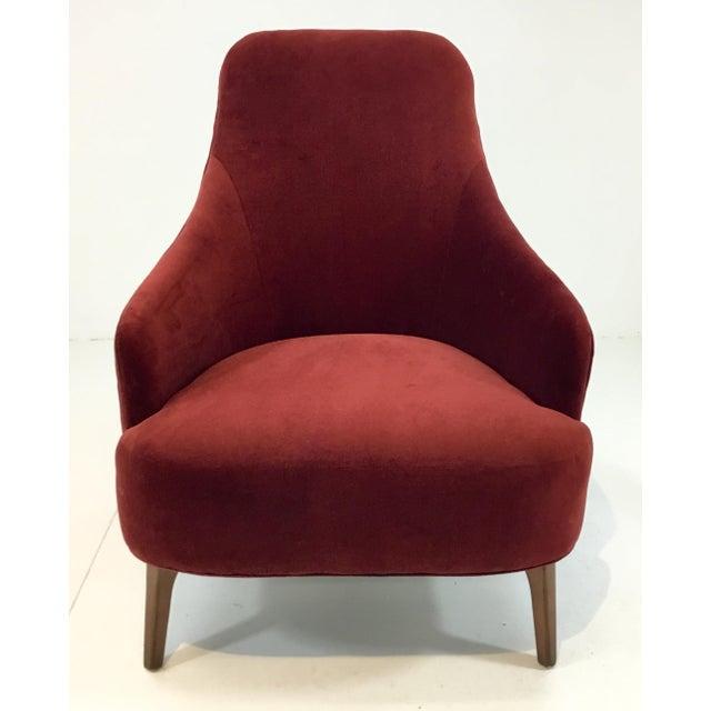 Drexel Heritage Clay Velvet Curl Club Chair For Sale In Atlanta - Image 6 of 6