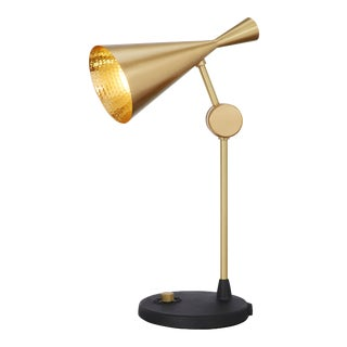 Tom Dixon Beat Table Light in Brass For Sale