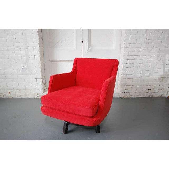 Fully Restored Swivel Chair by Edward Wormley For Sale - Image 9 of 10