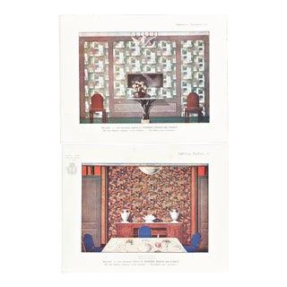 French Art Deco Interior Design Prints - A Pair