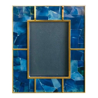 Blue Agate Photo Frame by Fabio Ltd For Sale