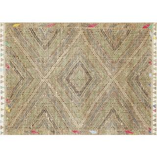 "Nalbandian - 1960s Turkish Geometrical Kilim - 6'4"" X 8'11"" For Sale"