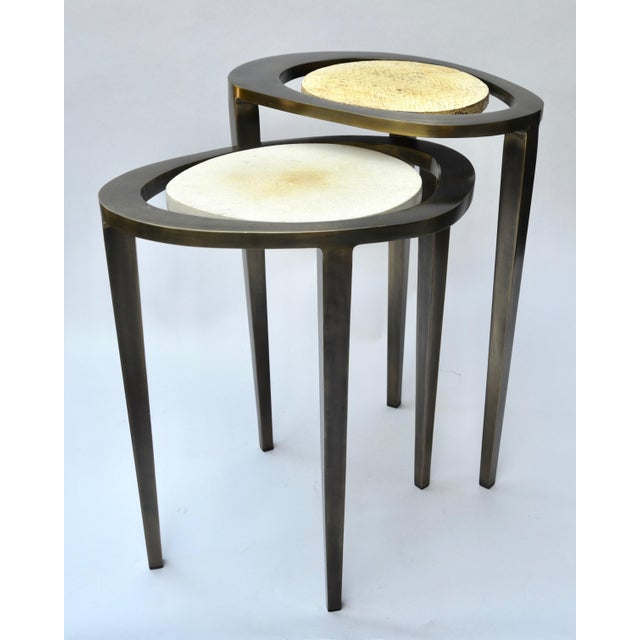 R & Y Augousti Bronze Nesting Side Tables - Image 7 of 10