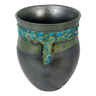 Aubergineware Ceramic Urn #20 by Andrew Wilder For Sale