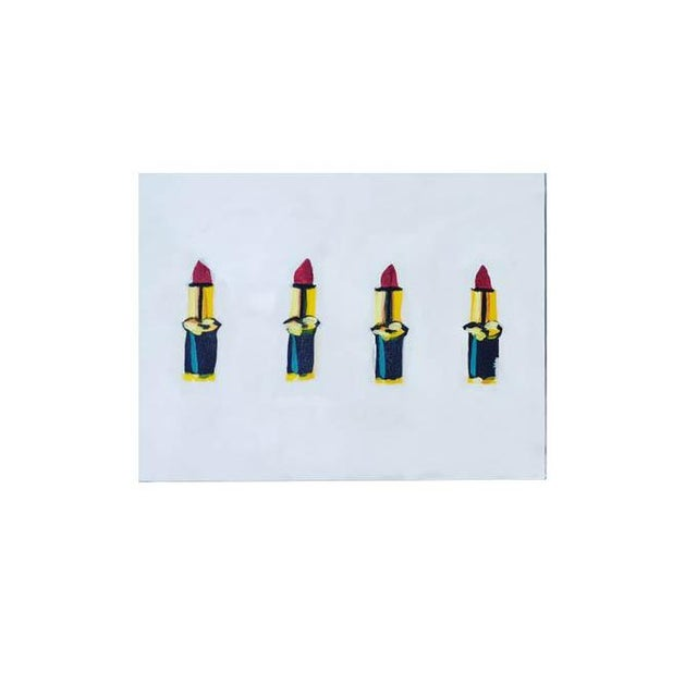 2010s 2010s Pop Art Acrylic Painting, Lipstick Lovers Chic For Sale - Image 5 of 5