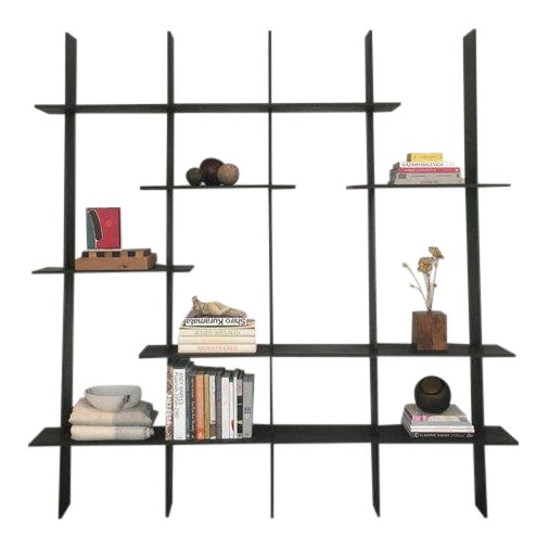 Ozshop 'Angle of Repose' Shelving Unit - Ebonized For Sale