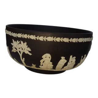 Wedgwood Neoclassical Black Basalt Bowl For Sale
