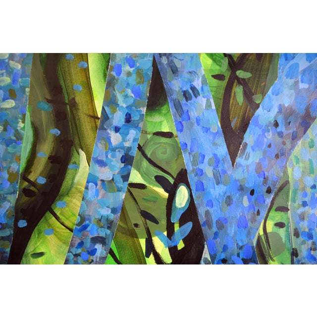 """Summertree Fantasia"" Original Acrylic Painting - Image 7 of 11"