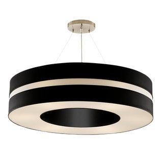 Matt Black and Brushed Nickel Pendant Light For Sale