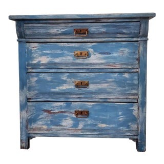 Early 20th Century Swedish Distressed Painted Commode For Sale