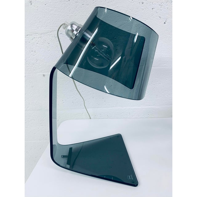 2000 - 2009 Pair of L'astra Smoked Gray Glass Table or Desk Lamps by Fiam Italia For Sale - Image 5 of 13