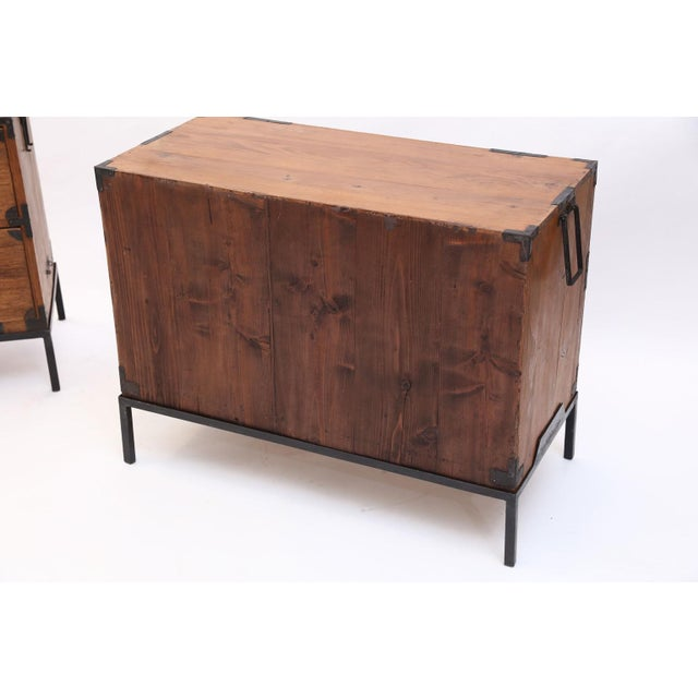 Pair of Tansu Bedside Tables For Sale - Image 4 of 13