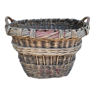 1930s French Champagne Basket For Sale